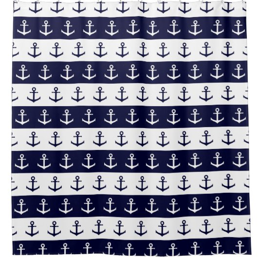 Nautical stripes and anchor pattern