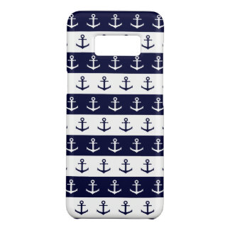 Nautical stripes and anchor pattern Case-Mate samsung galaxy s8 case