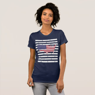Nautical stripes and anchor pattern T-Shirt