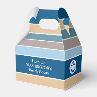 Nautical Stripes custom favor boxes