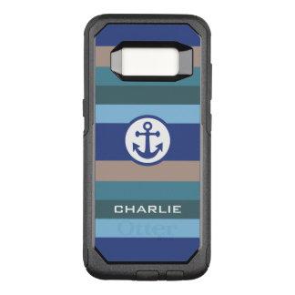 Nautical Stripes custom monogram phone cases
