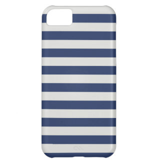 Nautical Stripes Navy White iPhone 5C Cases