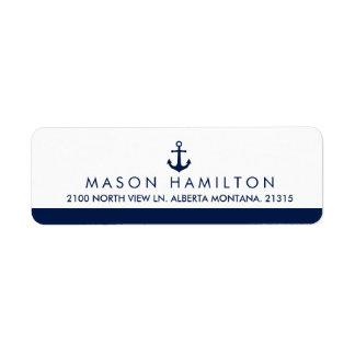 Nautical Style Anchor   Return Address Return Address Label
