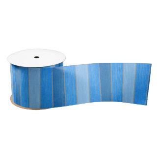 Nautical style blue painted wood satin ribbon