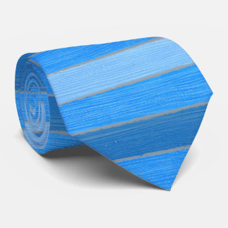Nautical style blue painted wood tie
