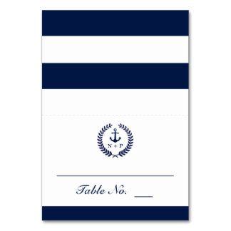 Nautical Style Wedding Table Escort Card