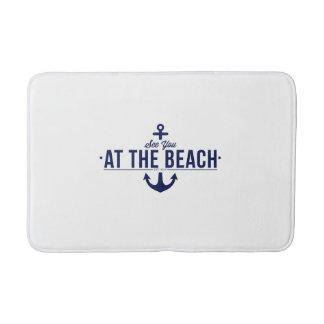 Nautical, stylish bath rug