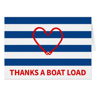NAUTICAL THANK YOU CARD RED HEART