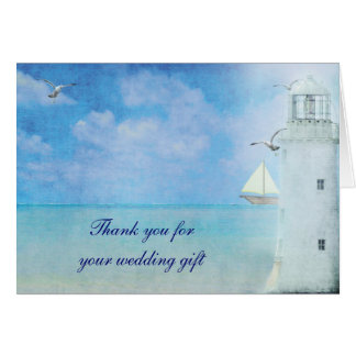 Nautical Thank You for wedding gift Card