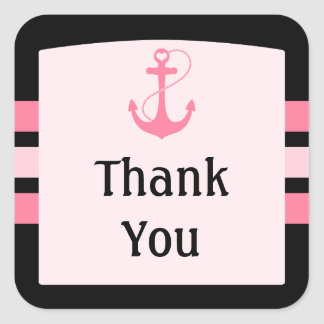 Nautical Thank You Square Sticker