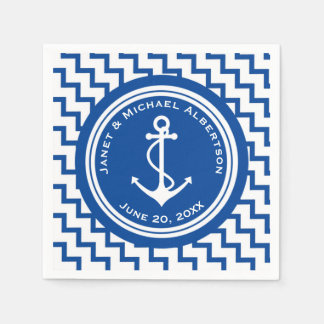 Nautical Theme Anchor Wedding on a Boat Paper Napkins