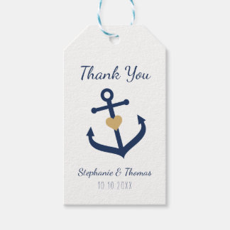 Nautical theme Favor Tags -  Navy Blue Anchor Tags