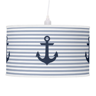 Nautical Theme Pendant Lamp: Navy Pendant Lamp