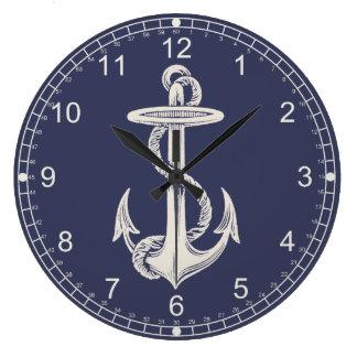 Nautical Themed Anchor Wall Clock