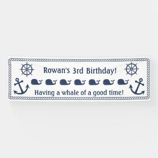 Nautical Themed Birthday Banner