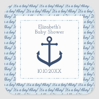 Nautical themed Boy Baby Shower Stickers