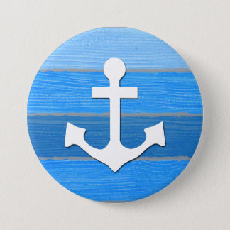 Nautical themed design 3 inch round button