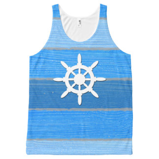Nautical themed design All-Over-Print tank top