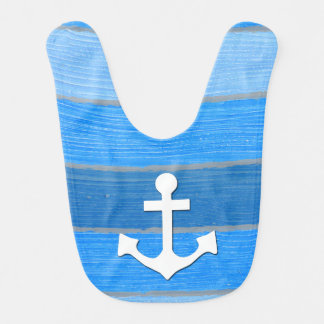 Nautical themed design baby bibs