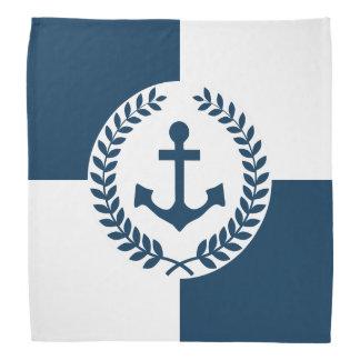 Nautical themed design bandana