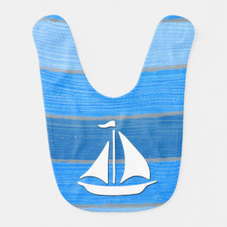 Nautical themed design bib