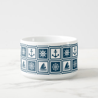 Nautical themed design bowl