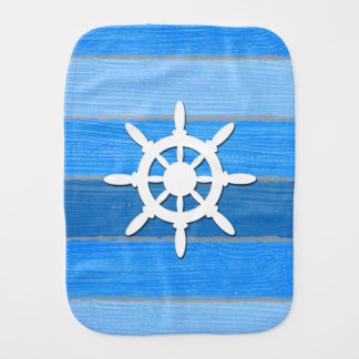 Nautical themed design burp cloth