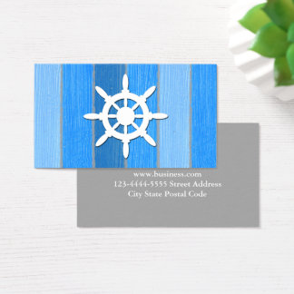 Nautical themed design business card