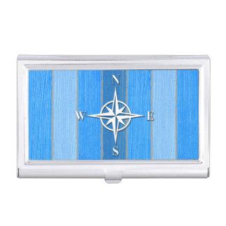 Nautical themed design business card holder
