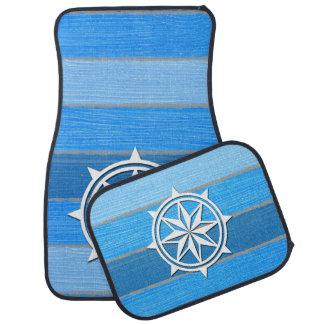 Nautical themed design car mat