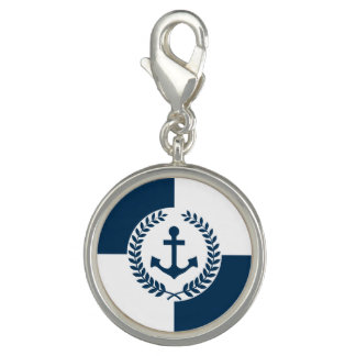 Nautical themed design charm