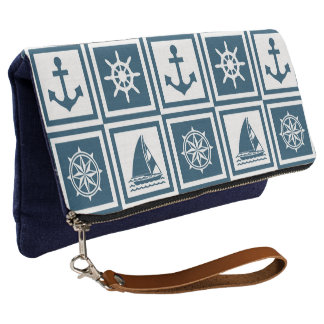 Nautical themed design clutch