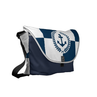 Nautical themed design commuter bag