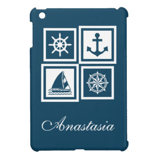 Nautical themed design cover for the iPad mini