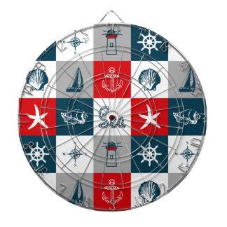 Nautical themed design dartboard