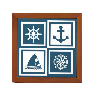Nautical themed design desk organizer