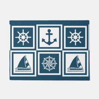 Nautical themed design doormat