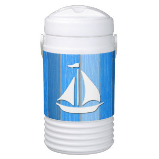 Nautical themed design drinks cooler