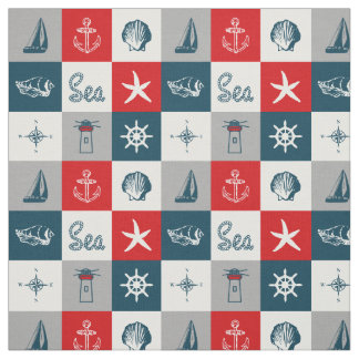 Nautical themed design fabric
