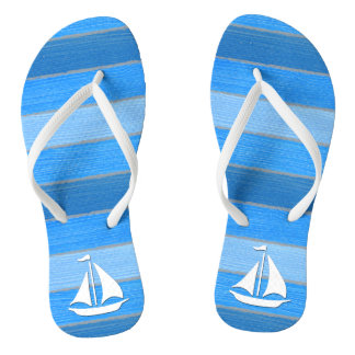 Nautical themed design flip flops