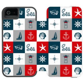 Nautical themed design incipio watson™ iPhone 5 wallet case