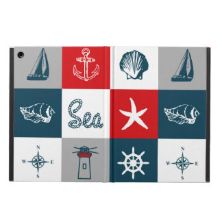 Nautical themed design iPad air cover