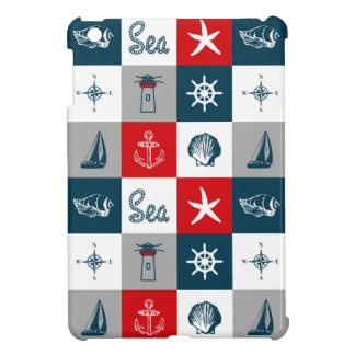 Nautical themed design iPad mini cover