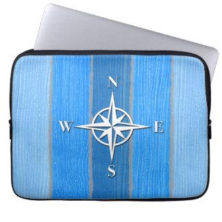 Nautical themed design laptop sleeve