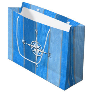 Nautical themed design large gift bag