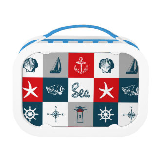 Nautical themed design lunch boxes