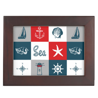 Nautical themed design memory boxes