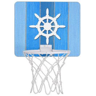 Nautical themed design mini basketball hoop