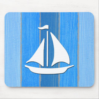 Nautical themed design mouse pad