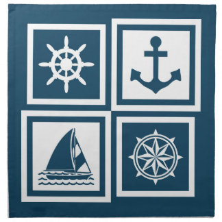 Nautical themed design napkin